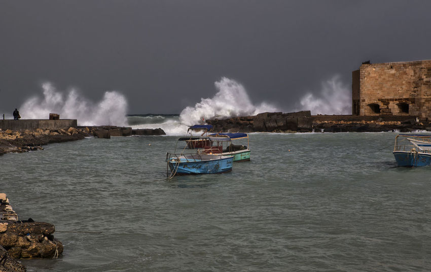 Alexandria Egypt Cloud - Sky Egypt Fisherboats  High Waves Landscape Landscape_Collection Nature Nautical Vessel Storm Cloud Stormy Seas The Citadel Of Qaitbay The Citadel Of Qaitbay (Arabic: قلعة قايتباي ) The Citadel Of Qaitbay,Alexandria,Egypt Wave Waves Crashing EyeEmNewHere