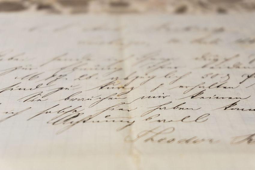 Old Letter Old german letter Germany Brief Communication German Handschrift Handwriting  No People Old-fashioned Paper Schrift Sütterlin Text