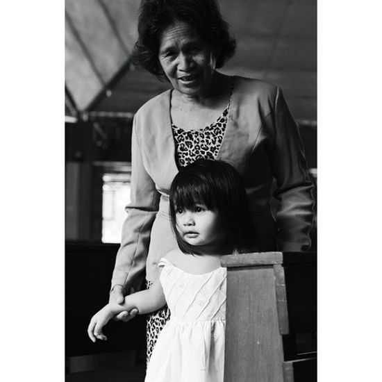 IGDaily Igmanila Ig_philippines Grandmother Daughter Teacher Monochrome_asia Bnw_city Bnw_manila Bnw_philippines Blacknwhite_perfection Chruch Scene