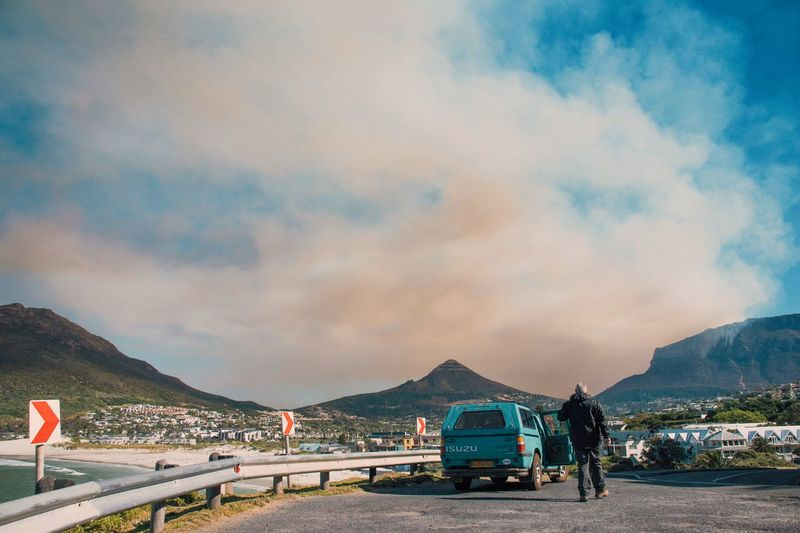 Hout Bay, South Africa Cloud - Sky Water Outdoors Sky Sea Beach Mountain Oil Pump Nature Day No People