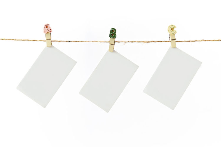 Hanging blank instant photo card Copy Space Event Greeting Hanging Memories Promotion Rope Shopping String Announcement Blank Card Envelope Gift Hnager Message Party Photo Sales Tag