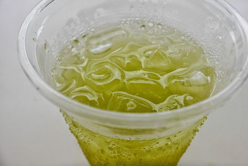 Liquid Lunch Sugarcane Juice Drinks Green Cold Cup Plastic Cup Hot Day Ice Thirsty  Quench Quencher