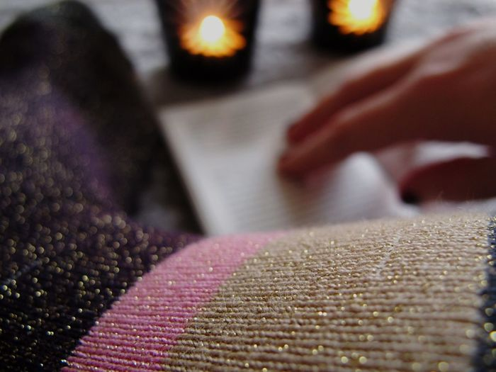 Luxury version TK Maxx Socksie Always Be Cozy Human Body Part Close-up Lurex Glittering Glitter & Sparkle Indoors  At Home Candlelight Lifestyles Seasonal Decorations Christmas Decorations Chilling Human Hand Warm Light Festive Mood Selective Focus Relaxing Socks Holiday Moments