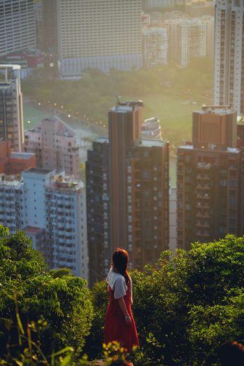 Girl alone on braemer hill hong kong