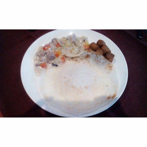 Breakfast Chicken Stew Appam grilled sausage