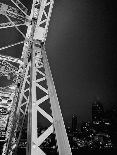 Low Angle View Architecture Bridge Railing Nashville NASHVILLE,TENNESSEE Cold Temperature Fog Foggy Night Fog City EyeEmNewHere