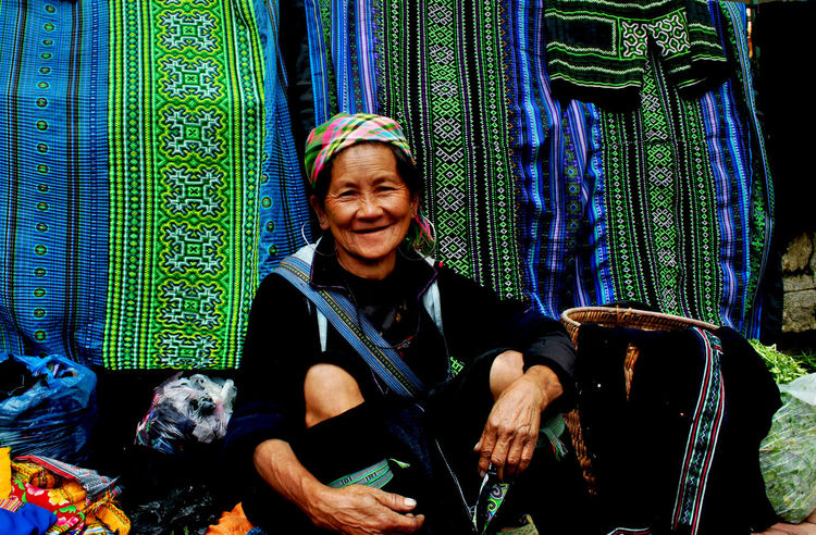 Casual Clothing Ethnic Humain Portrait Sapa, Vietnam The Old Toothy Smile Vietnamese Women Around The World