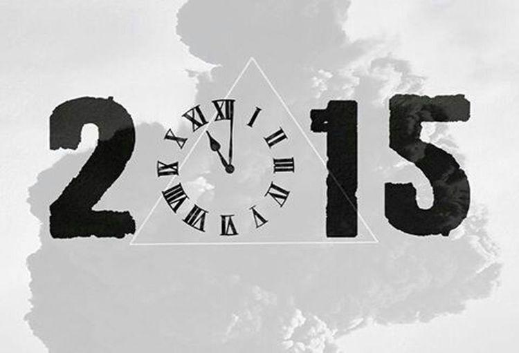 สวัสดีปีใหม่ 2558 Happy New Year 2015 Black And White