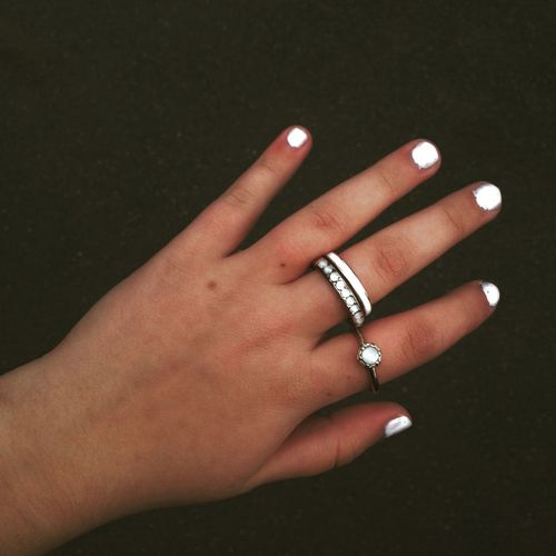 Nail Art Nail Polish Rings Filters Instagram Effekte White Hand Fingers Nagellack