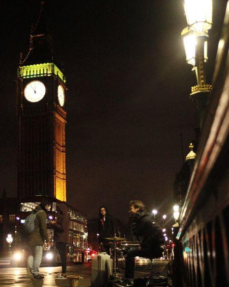 Illuminated Night Street Light City People Outdoors Clock Big Ben Bigfriends Birthday Party Music Drum England London London Lifestyle