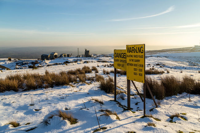 Snowy landscape. Clee Hill Cleobury Mortimer Cold Day Industrial Nature Shropshire Shropshire Hills Sign Signs Snow Snow Covered Snow Day Snow ❄ Snowing Uk Winter Winter Winters Day Winterscapes Wintertime Wintertime ⛄