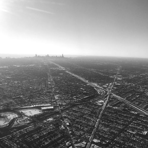 Cityscape Aerial View City Airplane Sky Clear Sky Landscape Day Blackandwhite TheMinimals (less Edit Juxt Photography) Chicago