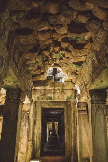 Siem Reap Cambodia Angkor Architecture Built Structure The Past History Building No People Indoors  Architectural Column Ancient Low Angle View Day Old Abandoned Travel Destinations Belief Religion Place Of Worship Solid Ceiling Ruined Ancient Civilization Archaeology