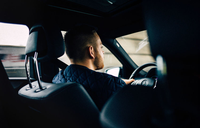 Adult Car Car Interior Cars Close-up Dashboard Day Drive Driving Land Vehicle Lifestyles Men Mercedes Mercedes-Benz Mode Of Transport One Man Only One Person People Real People Sitting Steering Wheel Transportation Vehicle Interior Vehicle Seat