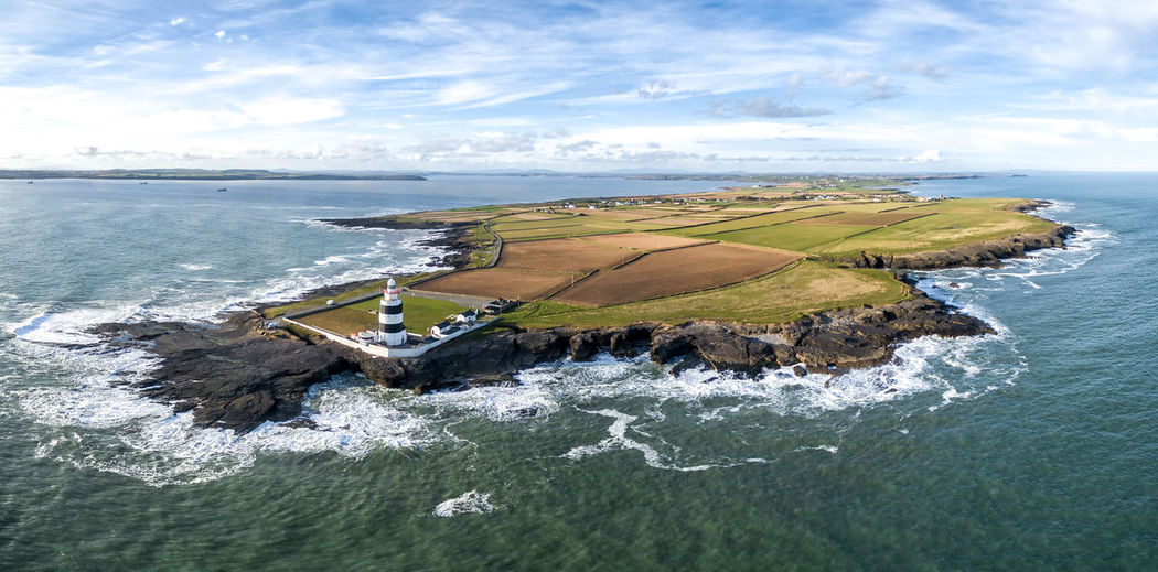 Aerial View Cloud - Sky Copter Hook Head Hook Head, Ireland Ireland Ireland🍀 Irland Leuchtturm Lighthouse No People Outdoors Panorama Panoramashot Scenics Sea Sky Water