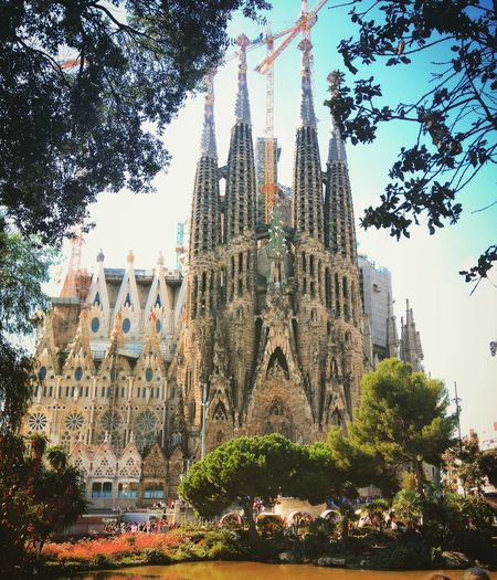 Barcelona Barcelona, Spain Sagrada Familia Salvador Dali Church Architecture SPAIN Religion Spirituality Architecture Cathedral Built Structure Famous Place Church Building Exterior Tourism Travel Destinations Travel City Vacation Sun Happy Wonderful Place Wonderful View Art