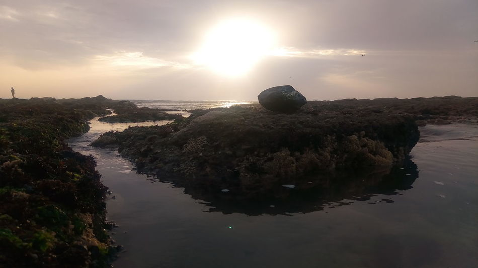 Reflection Silhouette Horizon Over Water Astronomy Nature Figueira Da Foz, Portugal