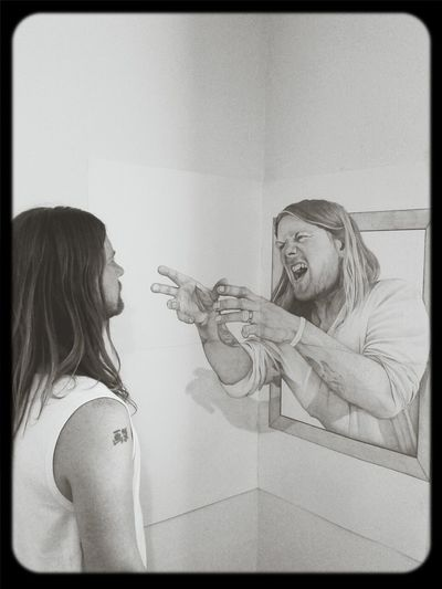 Check This Out Hanging Out Awesome Art self portrait in pencil