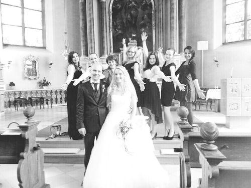 Happy :) Gospel Choir At A Wedding Gig Monochrome