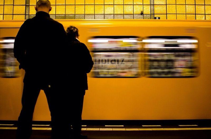 Yellow Berlin U-Bahn Travel
