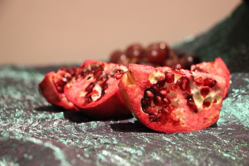Close-up of pomegranate on table