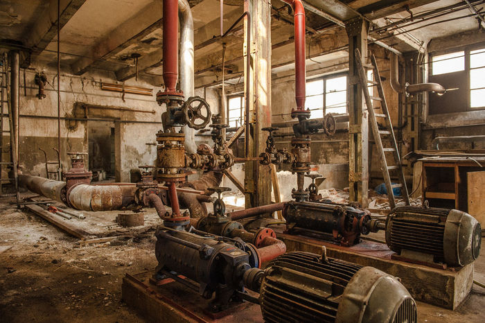 Compositing Background Day Factory Indoors  Industry Manufacturing Equipment No People Pipe - Tube Southern Germany