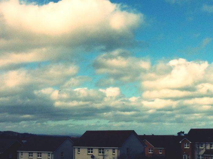 Blue, moody sky of Scotland.... Sky Clouds And Sky Scotland Edinburgh