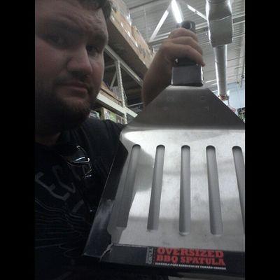 Ginormous fuckin spatula! Forgrillinson Unclebuck Forrealdoe Notsoselfishselfies sunshinestate beardlife beard crazyates gigantictitanic Rratedvocab pulledtotheside fisharefriendsnotfood