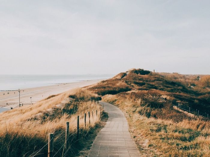 Dutch dunes Landscape Sky Sea Tranquility Beauty In Nature Tranquil Scene Land Water Beach Footpath Nature Horizon
