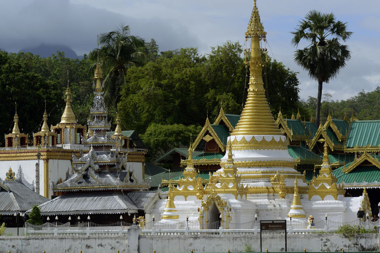 Low angle view of buddhist temples
