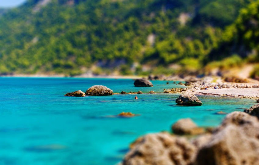 The view from Agios Nikitas Beach. Beach Beauty In Nature Blue Day Greece Ionian Coast Ionian Islands Ionian Sea Landscape Lefkada Nature No People Outdoors Scenics Sea Tranquility Water Wilderness