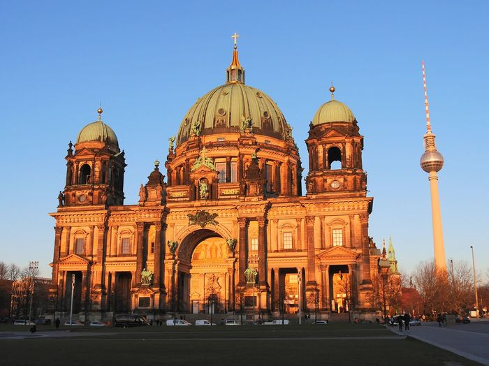 Cathedral Berlin Fernsehturm Berlin  City Clear Sky Dome Religion Architecture