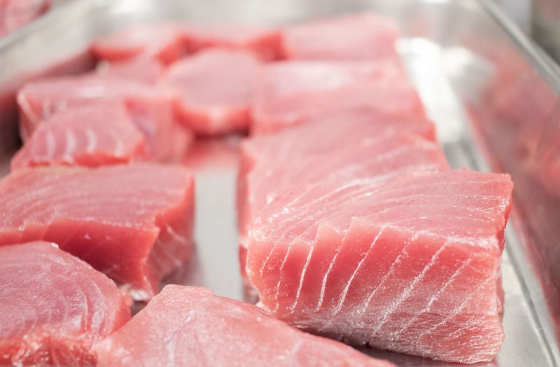 Fresh Tuna Tuna Steak Fish Freshness Meat Food And Drink Close-up Healthy Eating Ready-to-eat Finedinning Food And Drink Tuna Sushi Japanese Culture