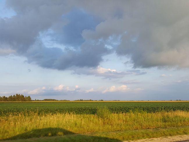 Clouds, field, Minnesota , grass, sky , no people