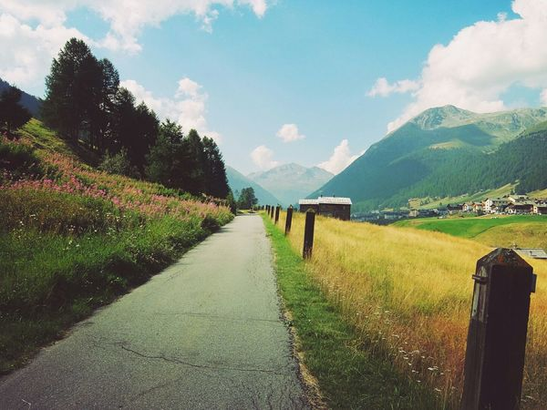 Yey, had a nice cycling day with my fat-bike (rented, I'd never buy one of those - they're far too ugly to watch 😒) Livigno Valtellina Alps Mountains And Sky Mountain Hut Road Summer Holiday Fujifilm Fujifilm XQ2