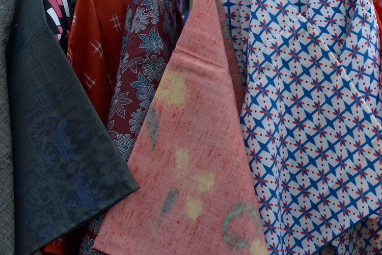 Full frame shot of multi colored textiles