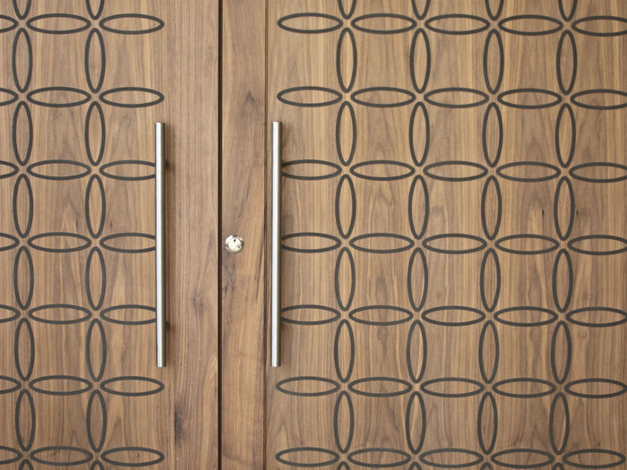 Full Frame Shot Of Design On Wooden Door