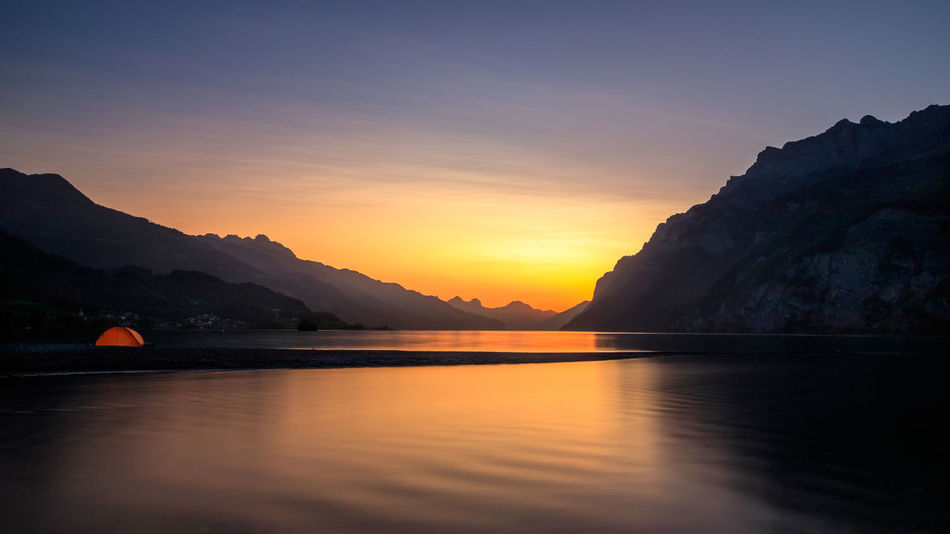 Sunset in Walenstadt Colors Sunlight Sunset Silhouettes Sunset_collection Switzerland Alps Alps Beauty In Nature Colorful Idyllic Long Exposure Longexposure Mood Mountain Mountain Range Nature Outdoors Reflection Sky Sun Sunset Switzerland Switzerlandpictures Walensee Water Waterfront Been There. Done That. Lost In The Landscape The Great Outdoors - 2018 EyeEm Awards The Traveler - 2018 EyeEm Awards