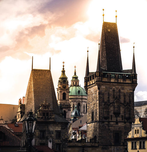 Architecture Built Structure Building Exterior Building Sky Belief Religion Place Of Worship Spirituality Travel Destinations Tower The Past Cloud - Sky History Tourism Travel Nature City Spire  No People Gothic Style Prague Prague Czech Republic