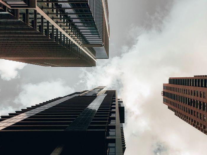Architecture Building Exterior Built Structure Low Angle View Sky Cloud - Sky Building Skyscraper City