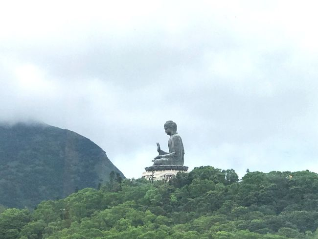 Sculpture Human Representation Day Sky Statue Outdoors Religion Spirituality Mountain Cloud - Sky Nature Tree Beauty In Nature No People HongKong Beauty In Nature Big Buddha Tian Tan Buddha (Giant Buddha) 天壇大佛 Ngongpingvillage