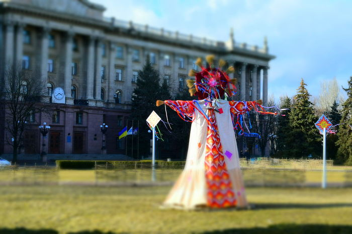 Grass Outdoors Sky Flower No People Tree Day Nature Beautiful Nature Maslenitsa Festival Season Festival Slavic Costume Building Clock Spring Has Arrived Multi Colored Carnival Crowds And Details
