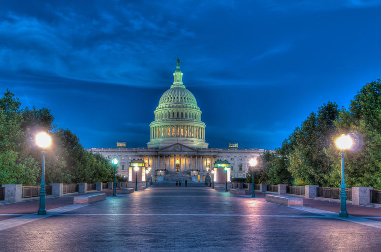 US Capitol at Sunrise Architecture Authority Blue Blue Sky Building Exterior Built Structure City District Of Columbia Dome Government Illuminated Night No People Outdoors Sky Sunrise Travel Destinations Tree US Capitol Building Uscapitol