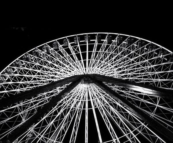 Ferris Wheel Amusementpark Ride Ride Or Die Hanging Out Wheel Night Black Blackandwhite Black & White Blackandwhite Photography Gritty Darien Lake Darien Alden Six Flags Rides Ride Me