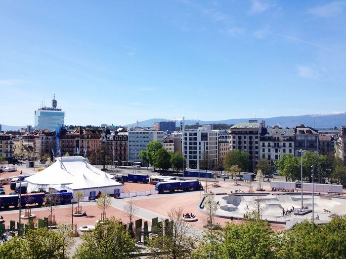 Spring Geneva City Cityscape University Of Geneva