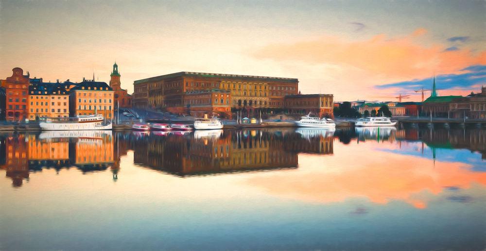 Royalpalace Castle Stockholm Painting
