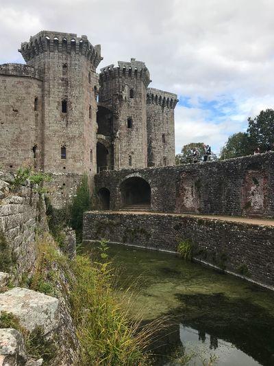 Raglan Castle Wales, UK Castle Architecture Built Structure Building Exterior History Water Sky The Past