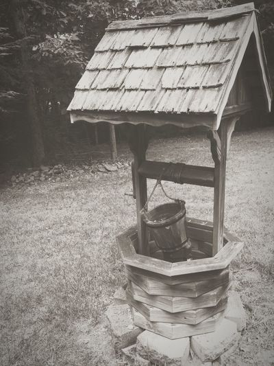 Home Is Where The Art Is Wishing Well Wood Black And White