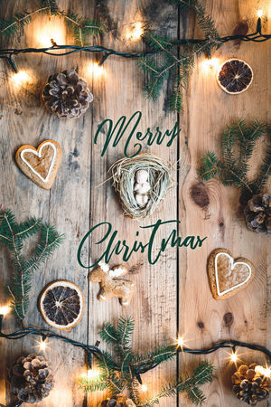 Merry Christmas everyone! Baby Christmas Figure Happy Holiday Lights Merry Christmas! Card Celebration Child Christ Christmas Christmas Decoration Christmastime Merry No People Rustic Text Wood - Material