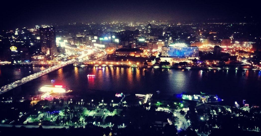 Cairo Night Water City Cityscape River Nile River Night Night Lights Nightlife Cairo Egypt Boat